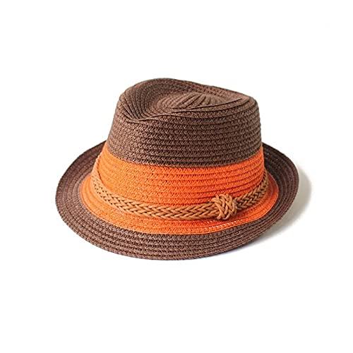 ZHEMAIDZ Sombrero para el Sol Baby Hat Moda Gorra de Paja para niños Niños Niños Sombrero Transpirable Show Show Kids Hat Playa Caps Sombrero Sombrero Sombreros (Color : Coffee)