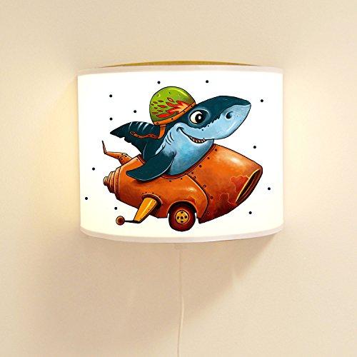 wandtattoo-welt® Lampe Murale pour Enfant Hai dans la Voiture avec Pois Ls87 Ilka parey