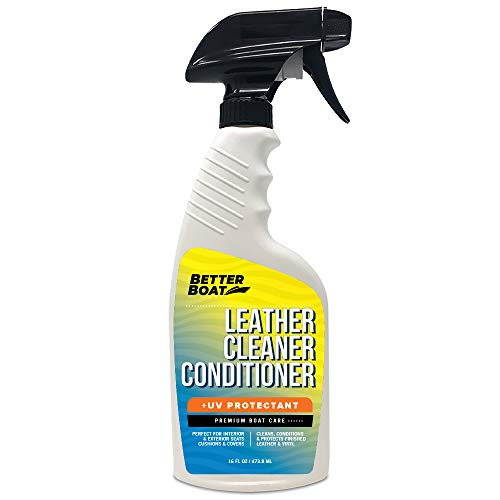 Premium New Marine Leather Conditioner and Cleaner for Boats with UV Resin | Leather Cleaner Boat Accessories Wipes Vinyl Leatherette Upholstery and Boat Seats Clean