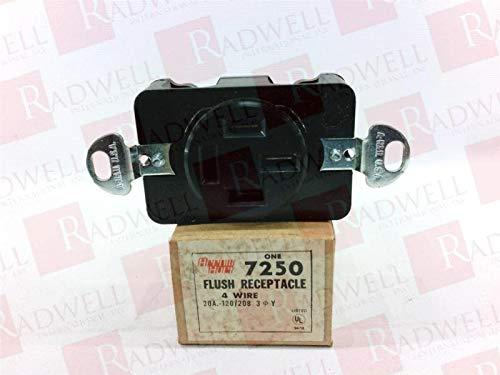 ARROW HART 7250 20AMP, 3PHASE, 4POLE, Flush Receptacle, 120/208V