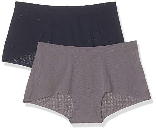 Sloggi Damen Women Move Shorty C2P Hipster, Grau (Grey Combination M013), S (2erPack)