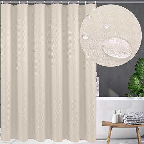 Swanson Duschvorhang mit Duschringen. Antischimmel. Modern. Edel. 120/180/200 x 200 cm (Beige, 200 x 200 cm)