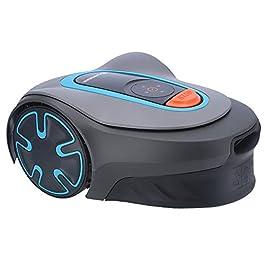 Gardena SILENO Minimo 300 – Robot Tondeuse (300 m2, Connectivité GARDENA Bluetooth, Silencieuse 58 DB) Gris