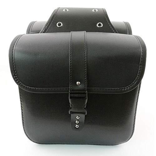 Satteltaschen Motorrad Seitentaschen Motorrad Tasche Satteltasche Saddle Bag Motorrad Satteltaschen Universal PU Ledersatteltaschen Motorradzubehör Für Honda Shadow Suzuki