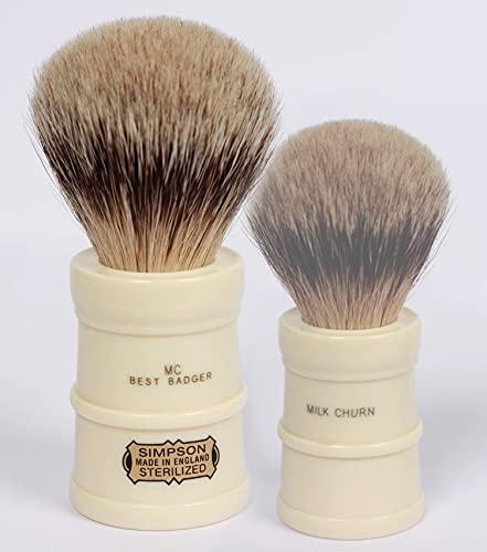 Simpsons Shaving Brushes =Brocha Afeitar Tejón-Simpsons Milk Churn Best Badger, Único, Estándar