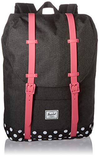 Herschel Mochila Retreat Youth Black/Fandango Pink