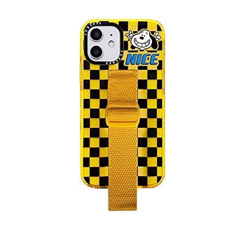 JIE. SXRTLDibujos Animados Anime Cachorro Pulsera iPhone12 Caja de teléfono móvil es Adecuado para Series de iPhone, láser, Fluorescente Transparente, Marca de Moda, Soporte de Pulsera,iPhone XS MAX