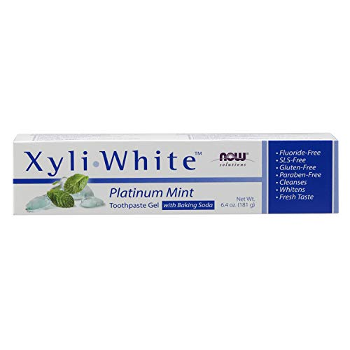 NOW Solutions, Xyliwhite™ Toothpaste Gel, Platinum Mint, Cleanses and Whitens, Fresh Taste