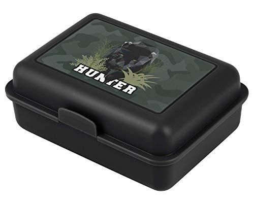 Baagl Brotdose Kinder für Schule – Lunchbox für Jungen, Kindergarten – Jausenbox, Brotzeitbox, Brotbox, Snackbox (Panther)