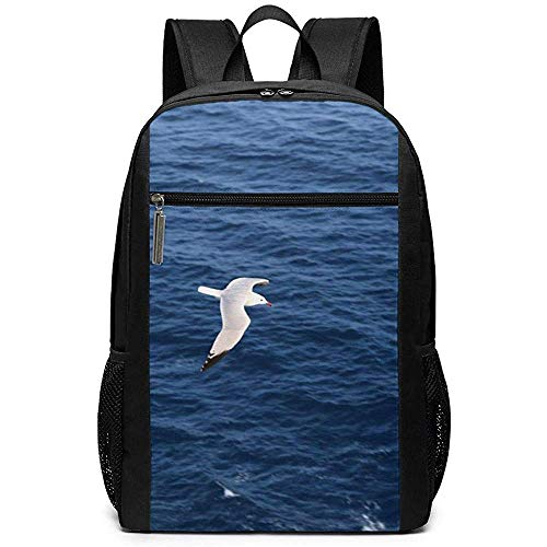 WlyFK Rugzak Seagull Vliegen Over De Zee Unisex Unieke Schoudertassen, Volwassen Student Dubbele Rits Sluiting Casual School Tas