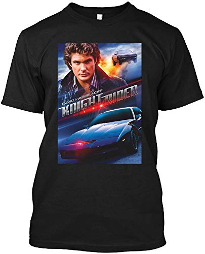 Knight Rider Hasselhoff Poster T-shirt, S to 4XL