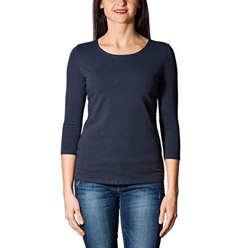 Alkato Damen Shirt 3/4 Arm mit Rundhals, Farbe: Dunkelblau, Größe: M