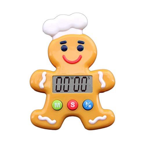Lauter Alarm Küchentimer Countdown-Uhr Kochen Küchentimer Digital Digital Mit Großem LCD-Bildschirm Timer Mit Alarm Zum Kochen Spiel -Lebkuchenmann