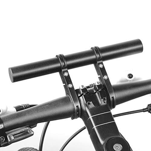 DaMohony Fahrrad-Lenker-Erweiterungsrahmen für Fahrrad-Licht, Taschenlampe, mit Clip, Fahrradausrüstung (rote Doppelhalterung)