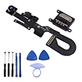 7MP Facing Front Camera Flex Cable W/Proximity Sensor Light Microphone Replacement Part + Earpiece Sound Replacement Compatible for iPhone 7 4.7' (All Carriers)