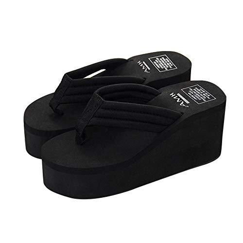 BaZhaHei Damen Zehentrenner Sandalen Schuhe Sommer Slipsole Plateauschuhe Sandalen Slipper Strandschuhe Outdoorschuhe Hausschuhe Bohemia Flip Flops Strandschuhe