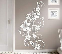 Grandora W951 muursticker bloemenrank crèmewit (BxH) 58 x 110 cm