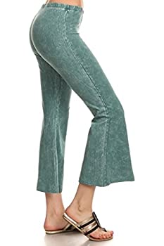 Zoozie LA Women s Culottes Bell Bottoms Stretch Pants Emerald Green
