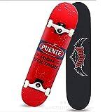BXQFR Skateboard, résistant à l'usure Anti-dérapant Skate Adulte, Haut-élastique Jeune Fille Scooter Professionnel,A