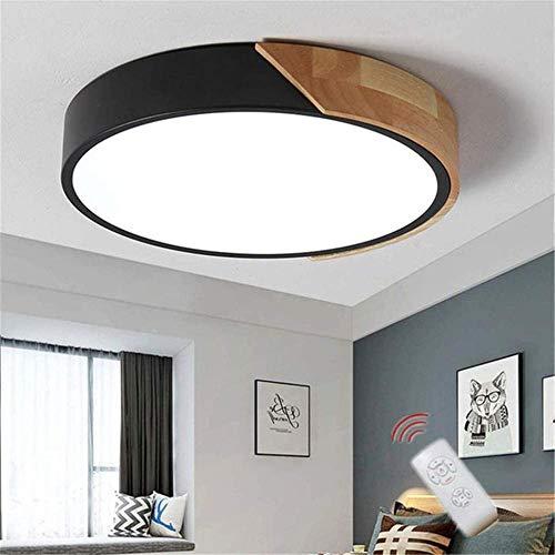 Lámpara LED de techo para dormitorio, lámpara de techo moderna regulable con control remoto, lámpara colgante decorativa de acrílico para habitación juvenil-50cm
