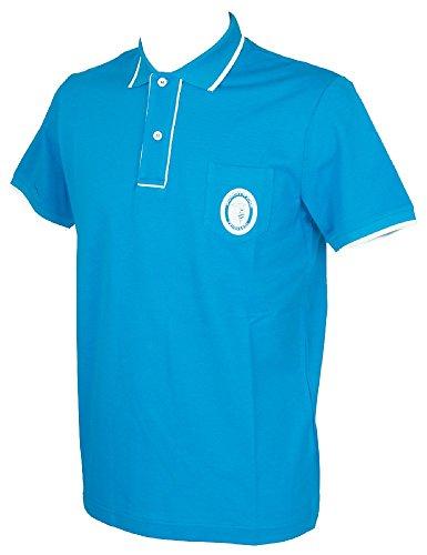 Trussardi Kurzarm Herren Poloshirt mit Kragen und Knöpfe Artikel TB611G, 207 Smalto, S