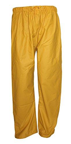 NiT-Top Herren Regenbundhose Regenhose Arbeitshose Nässeschutz Fahrradhose gelb (M)
