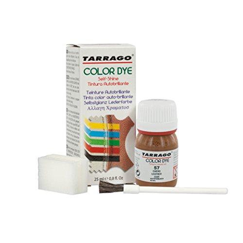 Tarrago | Self Shine Color Dye 25 ml | Tinte Para Cuero y Lona de Acabado Brillante Para Teñir Zapatos y Accesorios | Tintura de Secado Rápido Para Reparar el Calzado | Anti Rozaduras (Cuero 57)