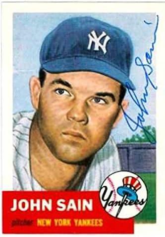 Autograph Warehouse 585354 John Selling rankings Sain Autographed Card - online shop Baseball
