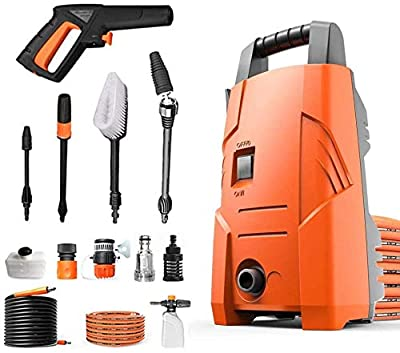 Indoor and Outdoor Cleaning Tools Mop Garden 1200W Pressure Washer with Accessories Ndash; Outdoor Home/Patio Car Cleaner - 90Bar Working Pressure, 220V/50Hz Voltage dljyy by dljxx