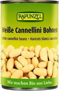 Rapunzel Weiße Bio Cannellini Bohnen in der Dose, 4er Pack (4 x 400g) - BIO