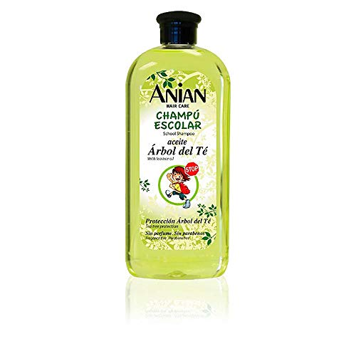 Anian Aceite arbol te champu proteccion escolar 400 ml