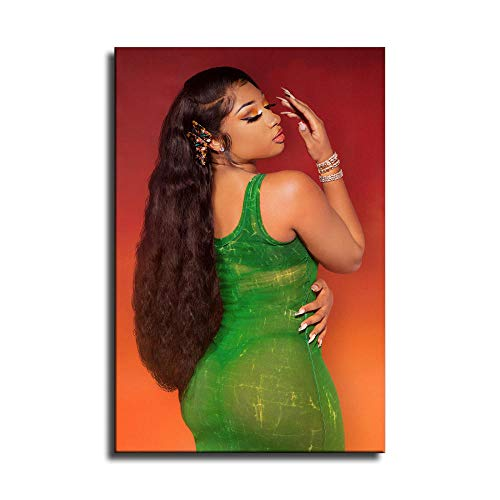 Megan Thee Stallion Rapper Hip Hop Canvas Art Poster and Wall Art Picture Print Modern Family Bedroom Decor Posters