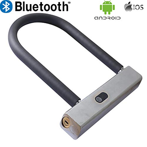 WiseLime Smart Heavy Duty Bluetooth U Lock with Key| Made of Military Grade Steel |Versatile Applications Your Security Needs