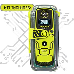 acr ResQLink View & ResQFlare Survival Kit (2361) - Personal Locator Beacon & USCG Approved Replacement for Pyrotechnic Flares