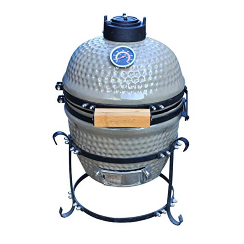 41e BnKNnoL - ChangDe - Weber Holzkohlegrills BBQ Grill - Outdoor Keramik Grill Garten Camping BBQ Emaille Grill Abnehmbarer Ei Holzkohlegrill