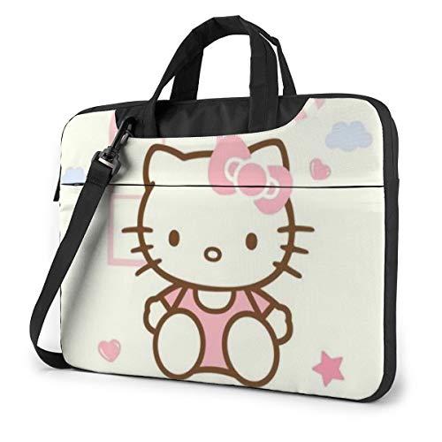 Hello Kitty - Bolso bandolera para portátil de 14, 15, 16, 16 pulgadas, repelente al agua, bolsa para ordenador portátil, tablet, bolsa de transporte para mujeres y hombres