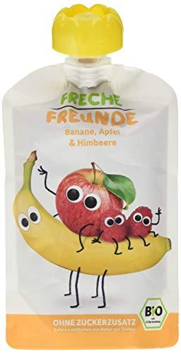 Freche Freunde Bio Quetschie 100% Banane, Apfel & Himbeer 6-er Pack (6 x 100g)