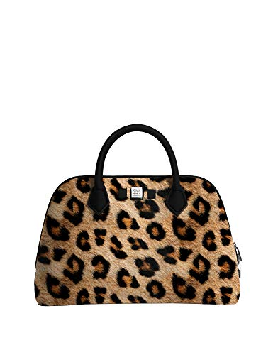 Save My Bag Damen Handtasche - Princess MIDI Printed- Leopard