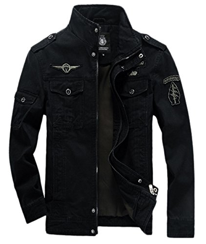 Military Jacket With Patches Mens