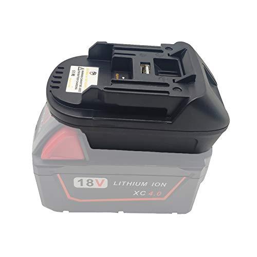 DM18M Battery Adapter for Dewalt 20V Convert to for Makita 18V Lithium BL1830 BL1840 BL1850 14.4V-18V Battery