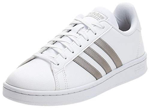 adidas Grand Court, Scarpe da Tennis Donna, Ftwr White/Platinum Met./Ftwr White, 38 2/3 EU