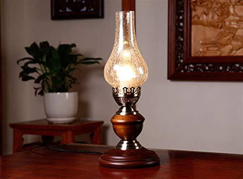 Lámpara de escritorio queroseno retro dormitorio de noche Estudio de la lámpara de habitaciones Restaurante Cafe Antiguo lámpara de mesa de Shanghai