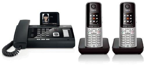Siemens Gigaset DL500A SET mit 2x S79H Mobilteil – analog, Anrufbeantworter, Bluetooth® ECO DECT, schwarz