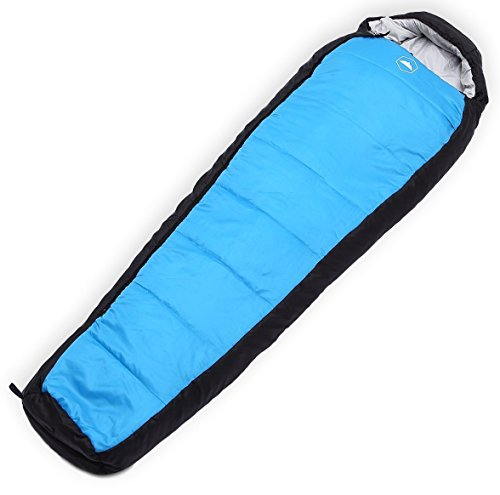 Tough Outdoors All Season Hooded XL Sleeping Bag with Compression Sack - Perfect Compression Sleeping Bag for Backpacking & Camping (Winter Solstice: 20-50F Temperature Rating)
