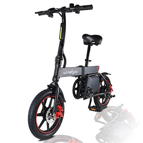 MoovWay Bicicletta Elettrica Pieghevole con Pedali, Sedile Regolabile, Compatta Portatile, velocità Massima 25km/h, Autonomia 20km, Pneumatici 14 Pollici, modalità Crociera (Nero)
