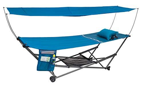 BERGER Faltliege mit einhängbarem Dach Liege Sonnenliege Sonnenschutz Camping Outdoor