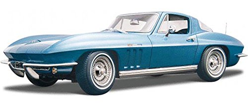 Maisto 1965 Chevy Corvette, Blue 31640 - 1/18 Scale Diecast Model Toy Car