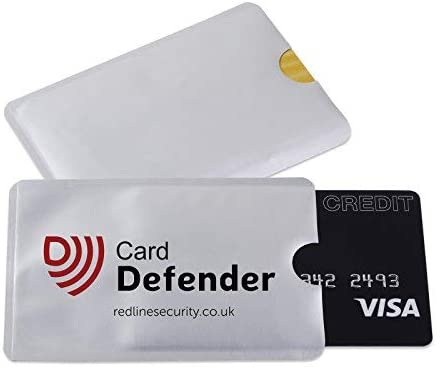 RFID Blocking Sleeves Contactless Cards - RFID Credit Card Protector Waterproof and Tear Proof - Debit Card Protector...