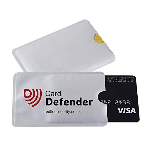 RFID Blocking Sleeves Contactless Cards - RFID Credit Card Protector Waterproof and Tear Proof - Debit Card Protector Sleeve for Privacy and Property Safety by Defender (5 Pack)