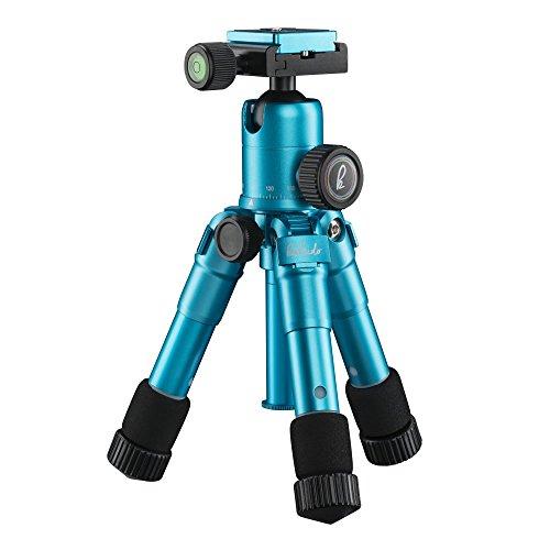 Mantona 21184 tripode Digitales / cámaras de película 3 pata(s) Azul - Trípode (Digitales / cámaras de película, 5 kg, 3 pata(s), 49,5 cm, Azul, Sistema de bloqueo por giro Twist Lock o Sistema de cierre tipo rosca Twist Lock)
